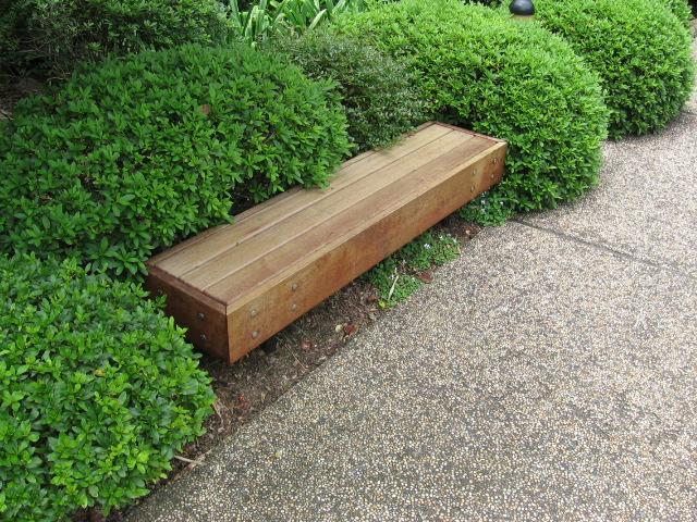 Northshore Timber Bench Park Furniture Landscape Blog